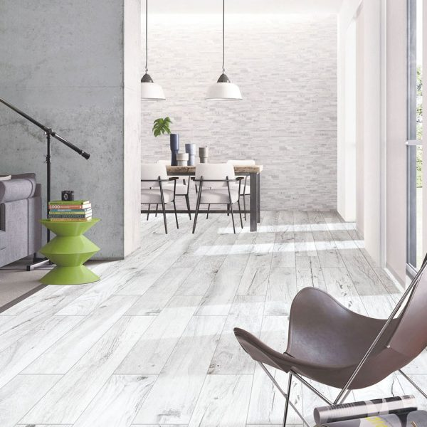Oxford White Timber Tile