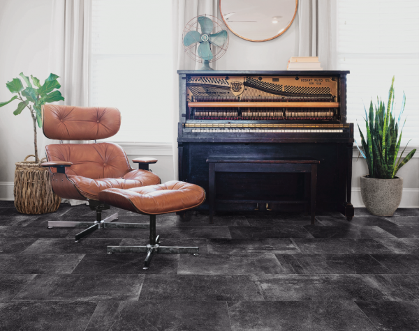 AgeStone Black wall and floor tile