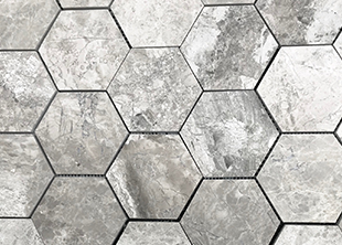 Silver Creek Honed Hexagon Mosaic natural stone