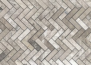Silver Creek Polished Herringbone natural stone