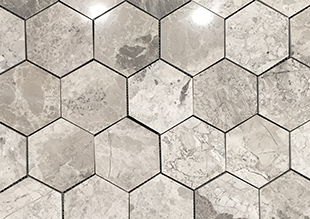 Silver Creek Polished Large Hexagon natural stone
