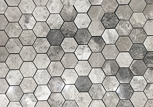 Silver Creek Small Hexagon Polished natural stone