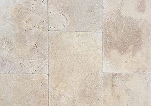 Travertine Classic Natural Blend Tumbled pavers and cladding