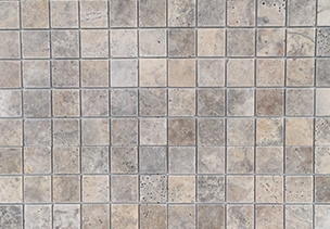 Silver Travertine Tumbled pavers cladding