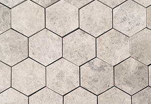 Tundra indoor tile cladding hexagon