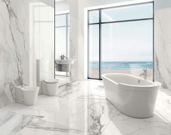 Kaizen Tiles Bernini 121x121 Floor Tiles 270x121 Wall Tiles Bathroom Residential Design