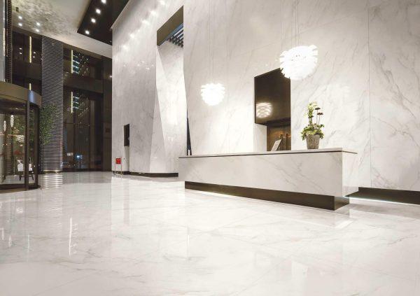 Kaizen Calcatta 180X80 Floor 320X160 Wall Tile Commercial Lobby