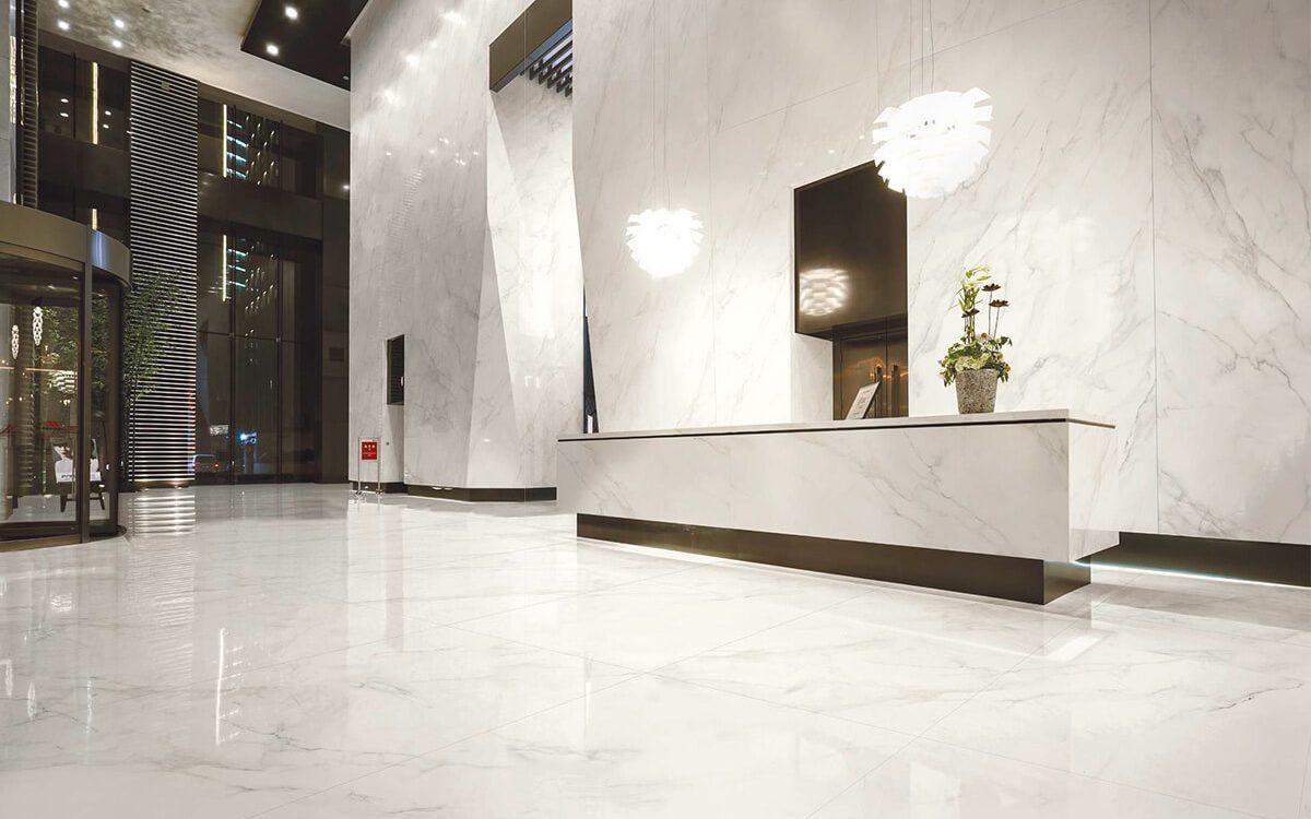 Kaizen Calcatta 180X80 Floor 320X160 Wall Tile Commercial Lobby Application