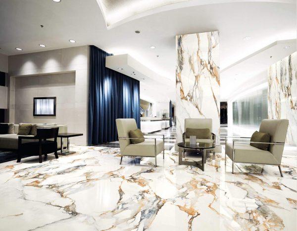 Kaizen Calcatta Gold 320X160 Floor Wall Tile Commercial Lobby